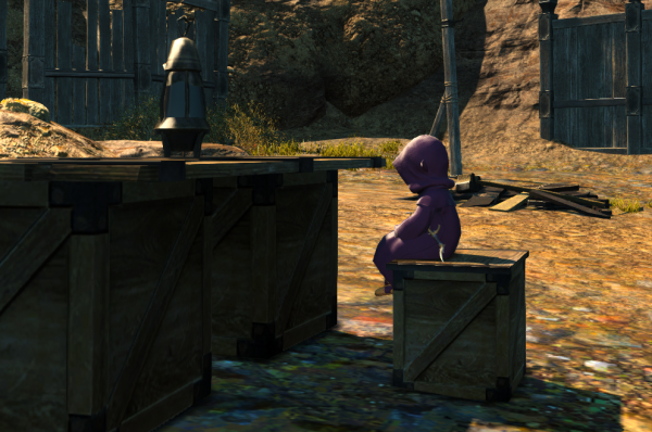 Don't mind me, I'm just a  tiny Lalafell at a big table.