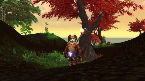 My adorable Pandaren Shaman, Macadamiah.