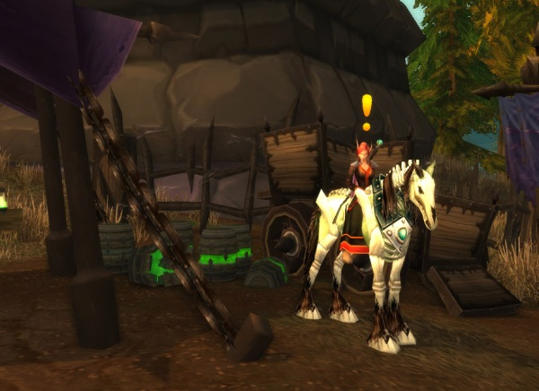 Jiraa standing as a quest NPC, awaiting excited 'players'.
